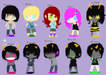.:: All My Homestuck OC's::. by Xx-Connley-xX