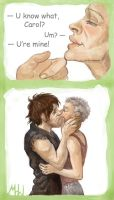 Caryl first kiss by MadHatters-Wife