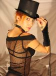 Fishnet and Black hat 003 by LadyL-stock