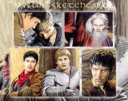 Merlin sketchcards by whu-wei
