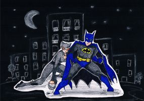 Batman and Catwoman the Night Warriors by AdrixCosta