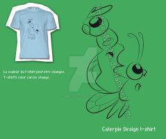 Caterpie Design T-shirt by UmbreoNoctie