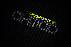 First Typography by ahmad0410