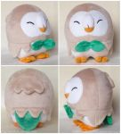Closed Eyes Rowlet Plush  - Pattern for sale! by ButtercupBabyPPG