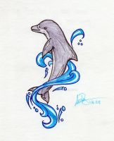 Mom's Dolphin Tattoo by RuneElf