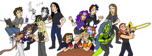 Dethklok Party by TromboneGothGirl84