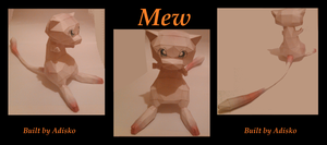 Mew Paper Pokemon by Adisko