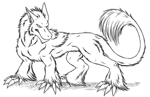 Art Trade -lines- by ArpegiusWolf