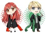 Draco and Ginny chibis by Crispelter