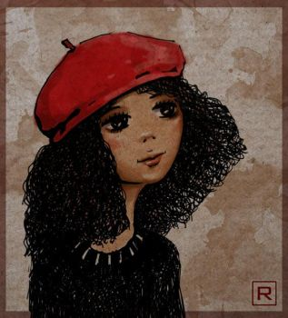 The Girl in the Red Hat by kotokto