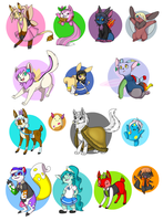 Returning to neopets- ALL MY PETS by Quarbie
