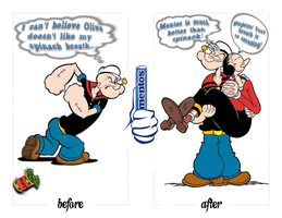 Popeye's spinach breath. by Romanian-A