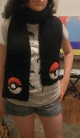 The Finished Pokeball Scarf by Lady-Elsewhere