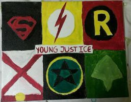 Young Justice Painting by QuinnyBot