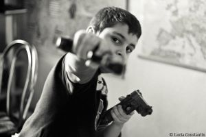Kids with guns by LuciaConstantin