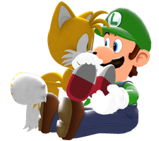 Classic Tails and Modern Luigi by IcePony64