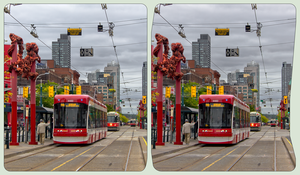China Town of Toronto ::: HDR/RAW Cross-Eye 3D by zour
