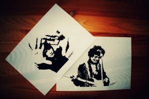 first paper stencils by pernicek