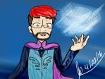 Mark Elsa Scene Drawing by witchguy24