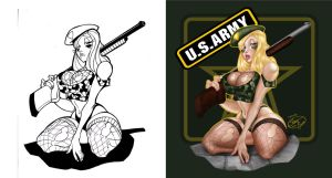 Army Babe - Before and After by StacyRaven