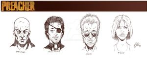 Preacher sketches by ArtisticSchmidt