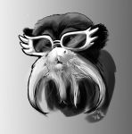 Funky Winged Sunglasses Monkey by MarthaDeAth