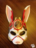 Steam Punk Alice in Wonderland White Rabbit Mask by b3designsllc