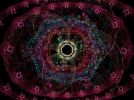 Psychedelic Foral Fractal by KirstenStar