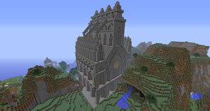 Minecraft 'Puerto de Corazon' Cathedral: Back by Sherio88