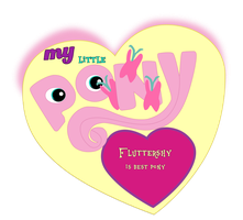 Fluttershy is best pony logo, version 1. by Flutterflyraptor