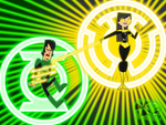 Green vs Yellow: Trent vs Heather by skull1045fox