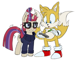 Tails And Moondancer :comm: by Blue-Chica
