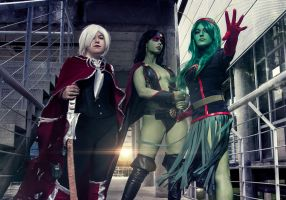 Guardians of the Galaxy Ladies by glorya-cosplay