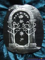 Lord of the Rings Speak Friend Ceramic Display by FireVerseCeramics