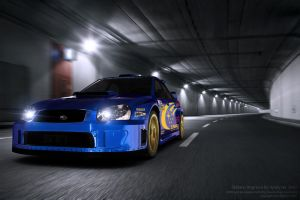 Subaru Impreza in tunnel by AnalyzerCro
