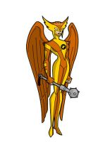 My DCAU Hawkgirl by Woodclaw