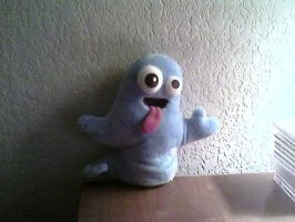 blue ghost thing XD by animeisbetterthanu