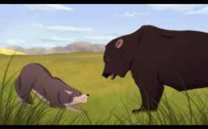 .: Bear vs. Wolf :. by DevaPein