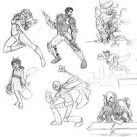 Livestream Sketch Requests - 12 by Wazaga