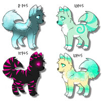 Adorable Wolf/Canine Adoptables Batch 3! 8-15pts! by DailyAdoptables