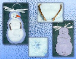Snowman Ornament by UrsulaPatch