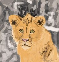 Lion (drawn with mouse) by TheKunterbunter