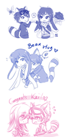 +ID+ Bunny and Raccoon Bromance by Kaizoku-no-Yume