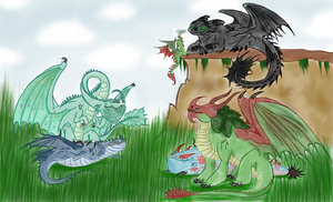 My Dragon Family by AlkryEarth17