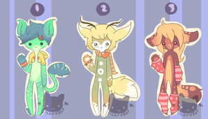 Another Anthro Batch Adopts (Closed) by LizardBat