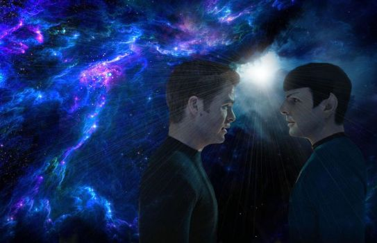 If I Could Fly Kirk and Spock  by HelloBlueMeetsGreen