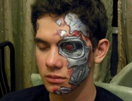 Cyborg Facepainting. by DJdrummer