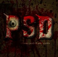 Blood Text Photoshop Tutorial by PsdDude
