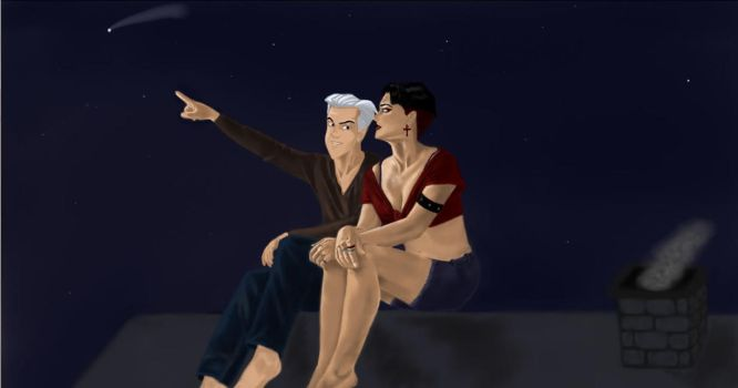 Pietro and Wanda - A shooting star by QueenAvalanche