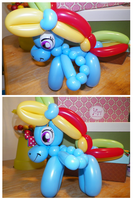 Rainbow Dash Balloon by PashaPup